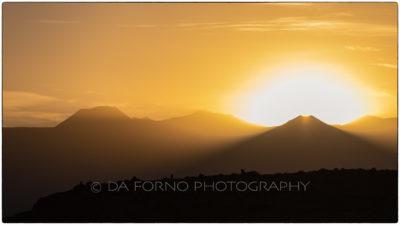 Chile - Desierto de Atacama - Vallee de la Muerte - Sunset on Licancabur volcan